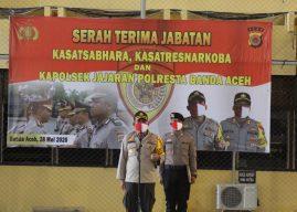 Sejumlah Perwira Polresta Banda Aceh Serah Terima Jabatan