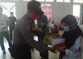 Polsek Baiturrahman Pantau Penyaluran Bantuan Langsung Tunai Dana Desa
