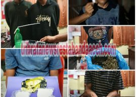 Satresnarkoba Polresta Banda Aceh Tangkap Pemilik, Pengguna dan Pengedar Sabu