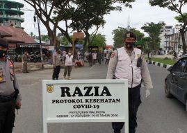 Kapolresta Banda Aceh Pantau Langsung Pelaksanaan Razia Ops Yustisi, Tim Berhasil Menindak 54 Pelanggar