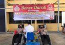 Jelang HUT Bhayangkara ke 75, Personel Polresta Banda Aceh Donor Darah