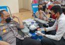 Kapolres Lhokseunawe Donor Darah dalam rangka memperingati Hut Bhayangkara ke 75